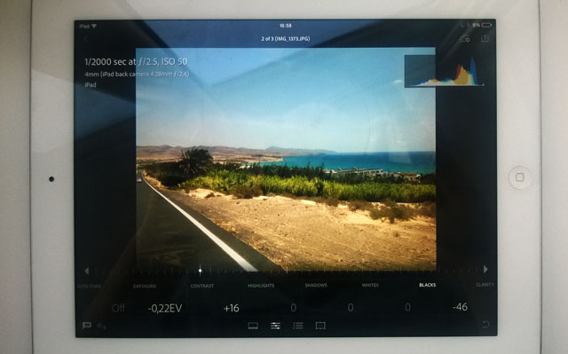 Adobe Lightroom na iPadzie